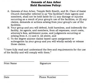 hold harmless agreement template hold harmless
