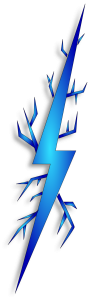 holiday border images blue lightning bolt clipart