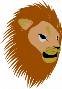 holiday border images lion head clipart