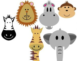 holiday border images safari animals clip art