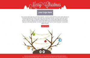 holiday email template christmas template b