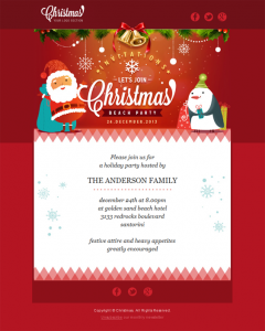 holiday email template christmasresponsive