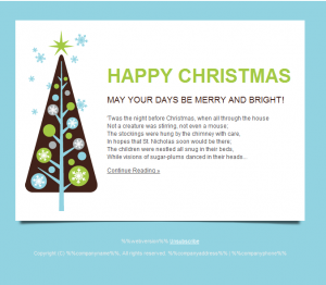 holiday email template emailtemplate