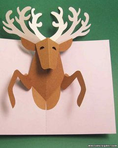 holiday newsletter template reindeercard xl