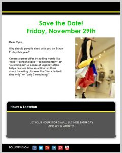 holiday newsletter template black friday template
