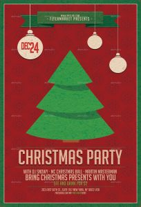 holiday party flyer christmas party v
