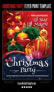 holiday party flyer cristmas party main preview image