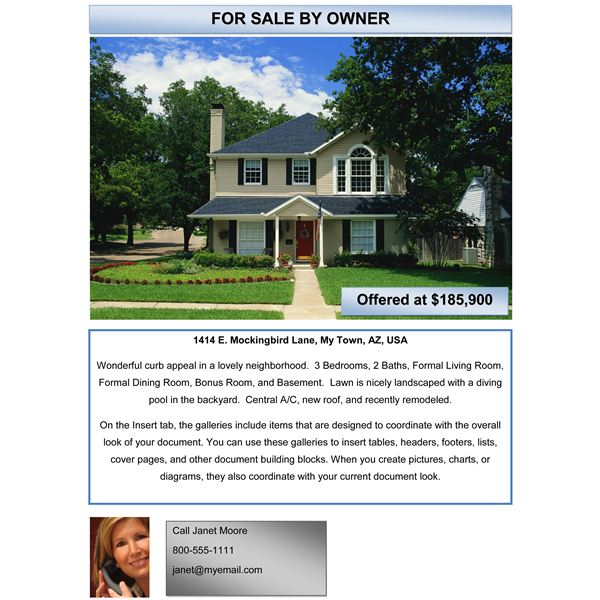 home for sale flyer