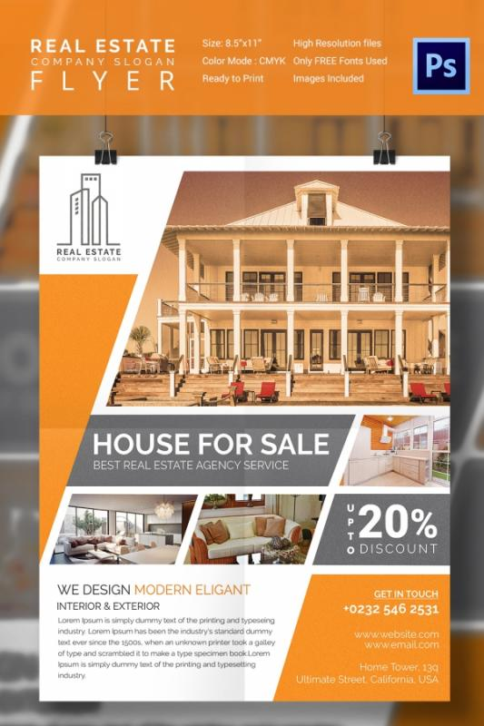 home for sale by owner flyer template - home for sale flyer template business