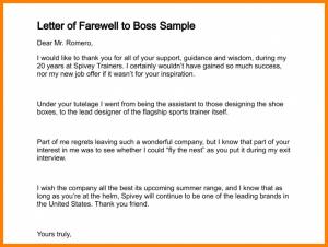 home offer letter goodbye letter to boss letter of farewell to boss sample