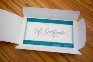 homemade gift certificates gc