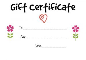 homemade gift certificates gift certificate