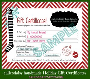 homemade gift certificates gift certificate sample framed