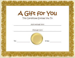 homemade gift certificates gift certificate template