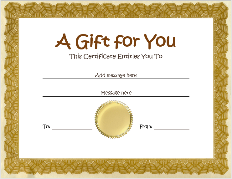 homemade gift certificates