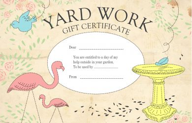homemade gift certificates gift certificate yardwork