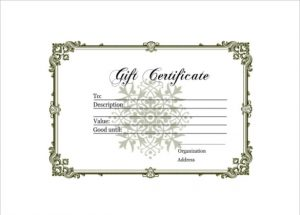 homemade gift certificates homemade gift certificate free pdf template download