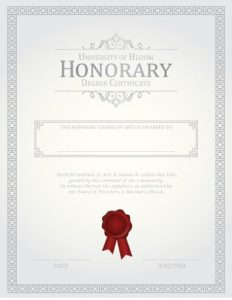 honor roll certificate honorary degree certificate template