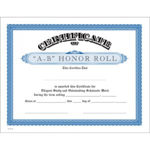 honor roll certificates bl