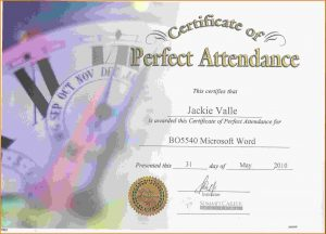 honor roll certificates free perfect attendance certificate template