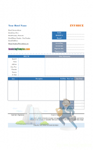 hotel receipt template hotel bill business traveler printed