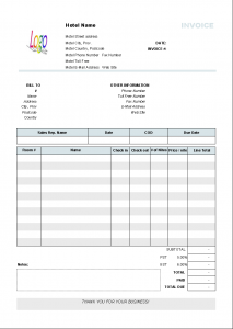hourly invoice template hotel bill sample format in word