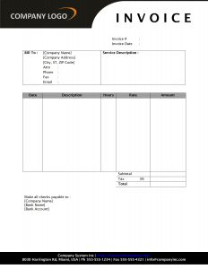 Hourly Invoice Template Template Business - Lawn care invoice template