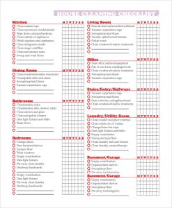 house cleaning checklist pdf house cleaning checklist