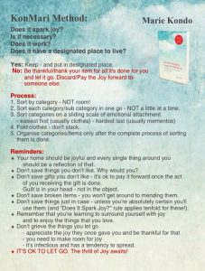house cleaning checklist pdf konmari method true north comfort blog