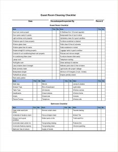 Residential Cleaning Service Checklist | Graph Pedia
