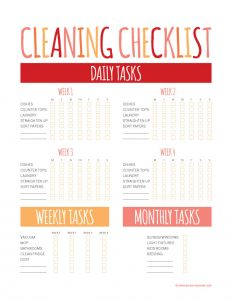 house cleaning price lists cleaning checklist