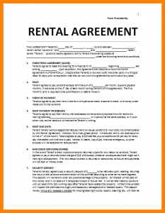 house rental agreement house rental agreement template rental agreement example