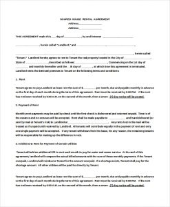 house rental contract double bed room house rental agreement doc download