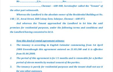 house rental contract house rental agreement
