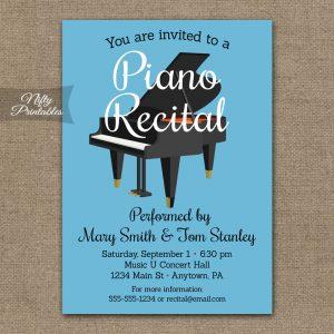 housewarming invitation template piano recital