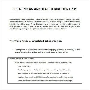 how to create an annotated bibliography creating an annotated bibliography generator sampl