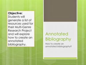 how to create an annotated bibliography slide
