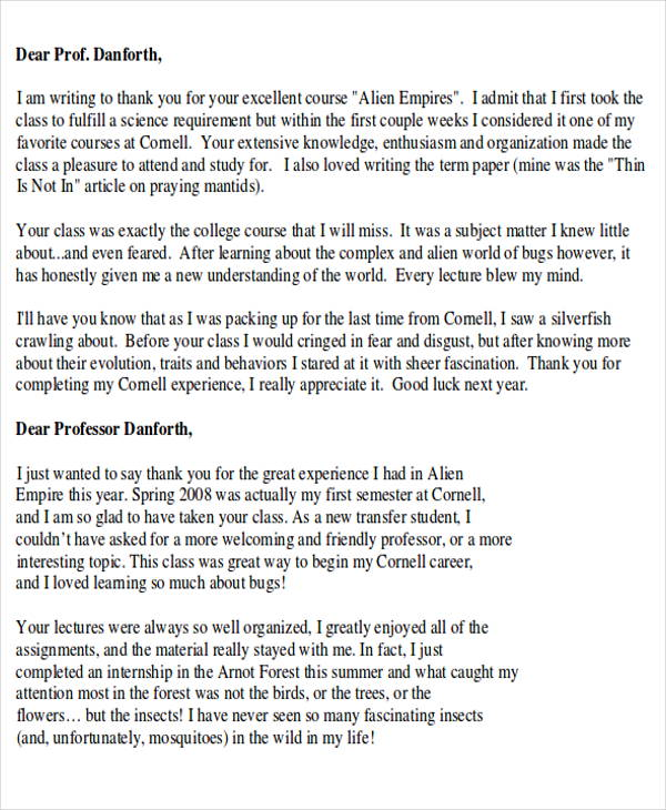 how to end a thank you letter