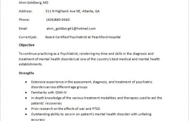 how to make a doctor note psychiatrist resume template