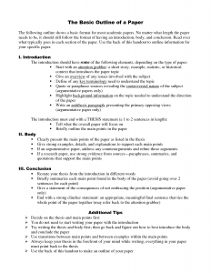 developing an outline for research paper