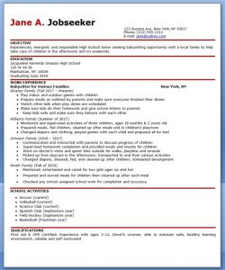 how to put babysitting on a resume babysitter resume example
