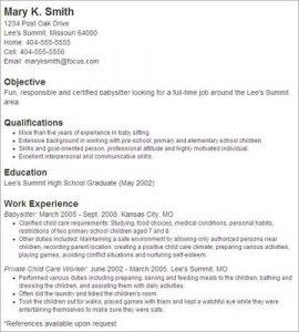 how to put babysitting on a resume secretary resume