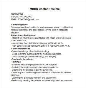 how to write a doctors note mbbs doctor resume template