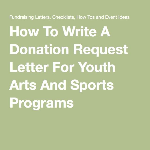 how to write a donation request letter