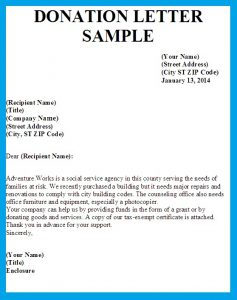 how to write a donation request letter letter asking for donations image