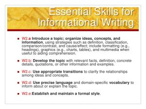 how to write a informative essay common core informativeexplanatory writing