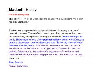 how to write a informative essay macbeth