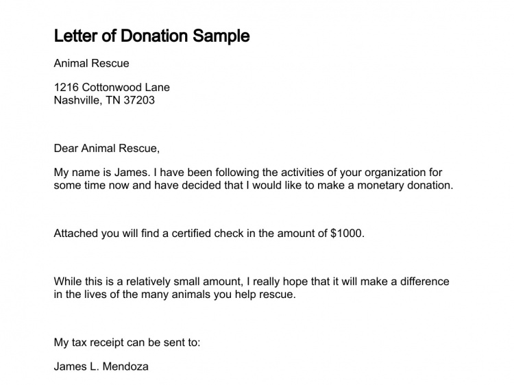 how to write a letter asking for donations