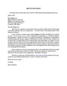 how to write a letter head resume cover letter