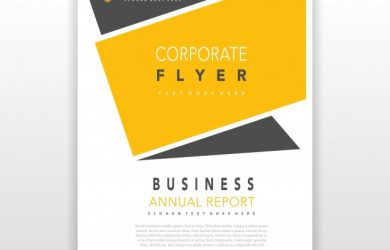 how to write a letter head yellow coporate flyer design